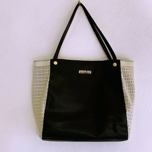 Kenneth Cole Reaction Black White  Large Satchel